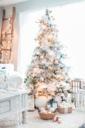 Elegant decorating ideas for white christmas 15
