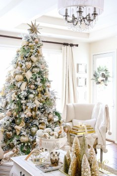 Elegant decorating ideas for white christmas 26