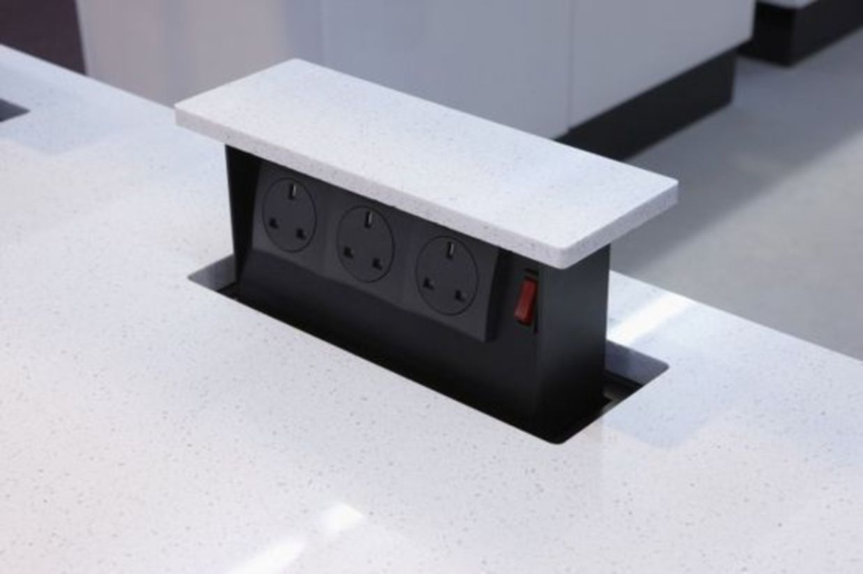 pop up outlets for kitchen design images 15 clever ways to hide your electrical godiygo com