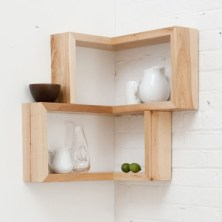 Ideas to decorate your corner space with unique corner shelf 21