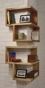 Ideas to decorate your corner space with unique corner shelf 33