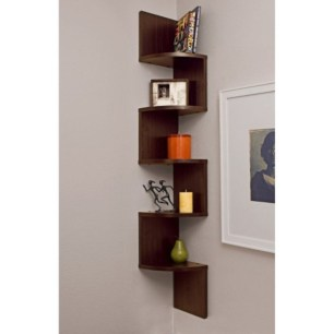 Ideas to decorate your corner space with unique corner shelf 35