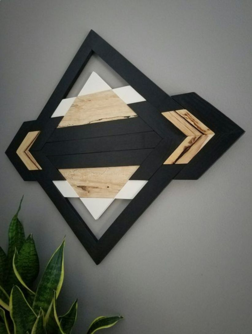 Kind wood wall hanging art reclaimed wood