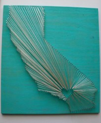 Make your own string art that look artsy for your space 03
