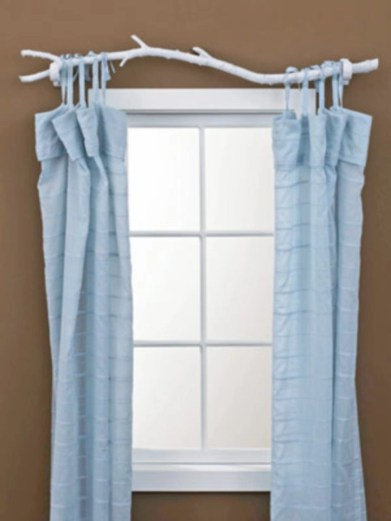 On a budget make your own curtain 06