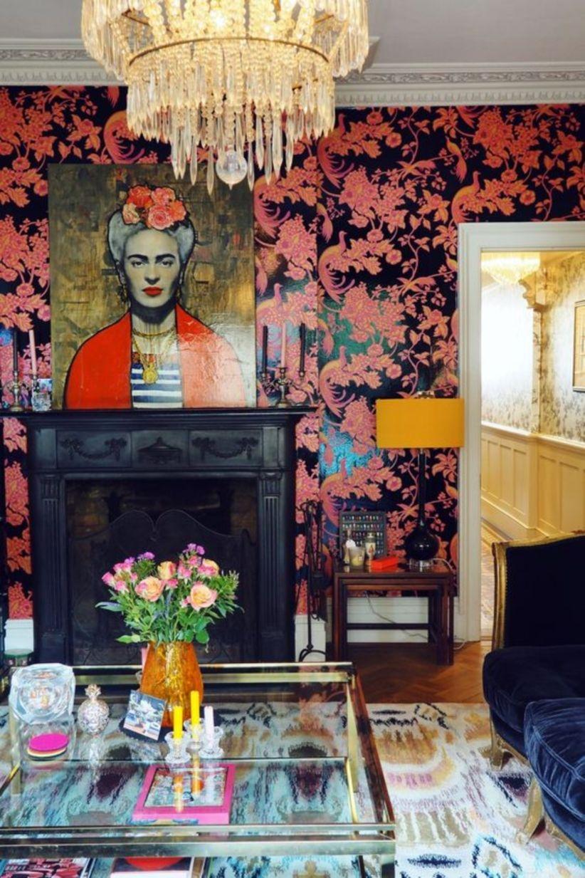 Pretty and fancy loud wallpaper, velvet, splashy art