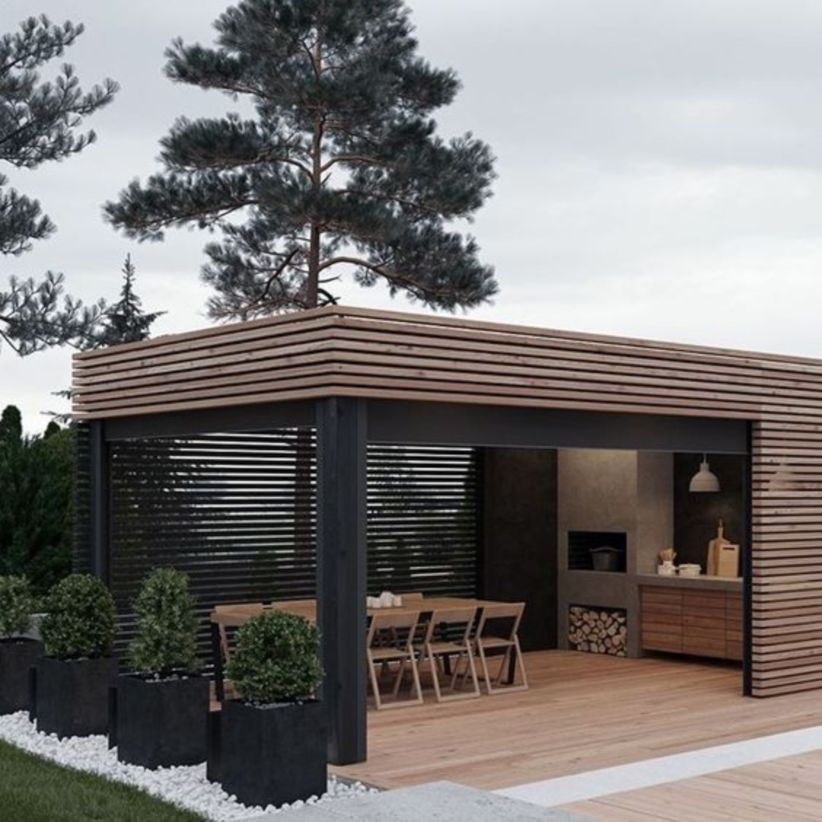 Small Modern Patio Blends Into Its Environment Perfectly