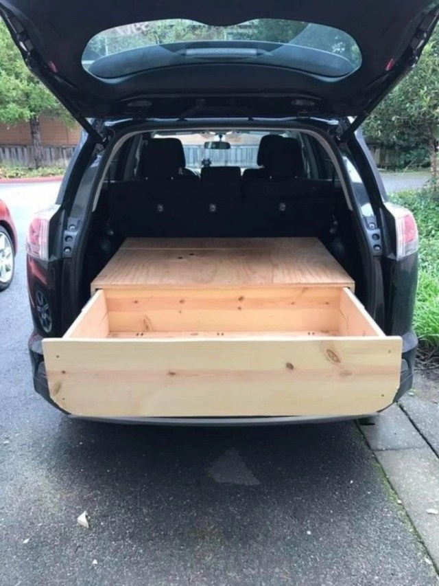 Suv drawer, car camping, storage suv camping, car bed,