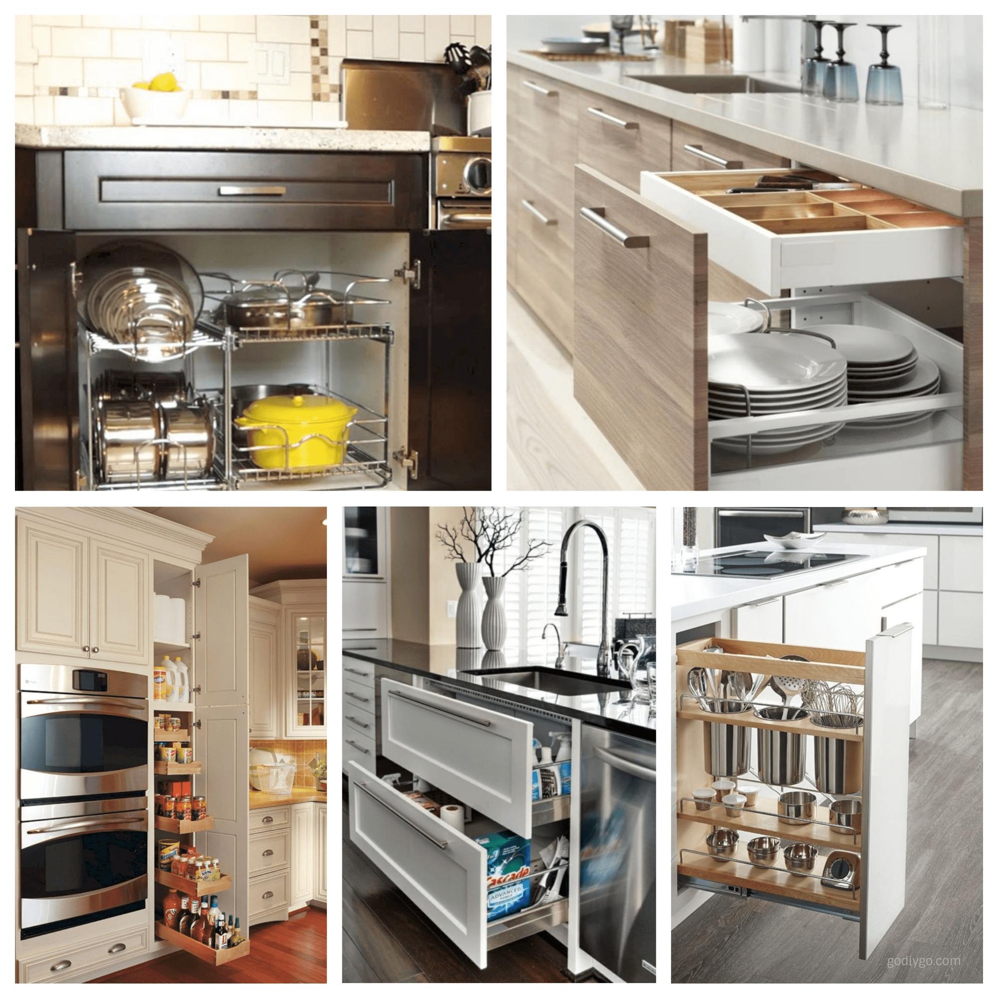 kitchen cabinet organization ideas 44 Smart Kitchen CabiOrganization Ideas   GODIYGO.COM kitchen cabinet organization ideas