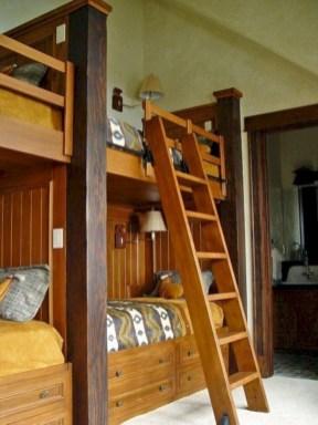 Creative log cabin themed bedroom for kids 03