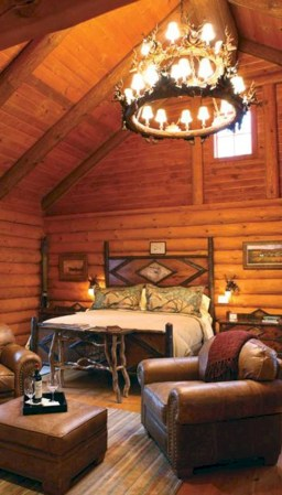 Creative log cabin themed bedroom for kids 06