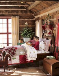 Creative log cabin themed bedroom for kids 08