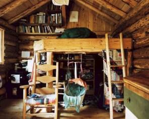 Creative log cabin themed bedroom for kids 24