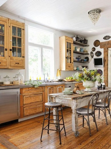 Diy ideas to add rustic farmhouse feel to your kitchen 22