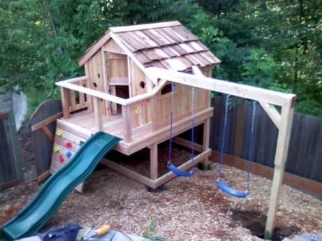 Diy outdoor swing ideas for your garden 11