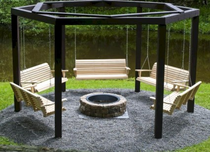 Diy outdoor swing ideas for your garden 27