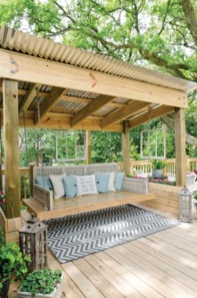 Diy outdoor swing ideas for your garden 29