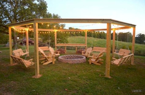 Diy outdoor swing ideas for your garden 38