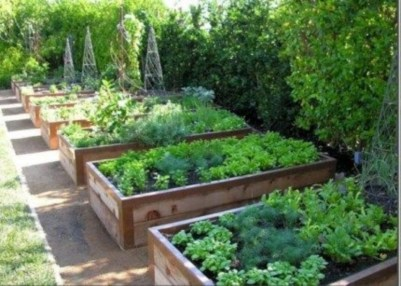 Easy to make diy raised garden beds ideas 15