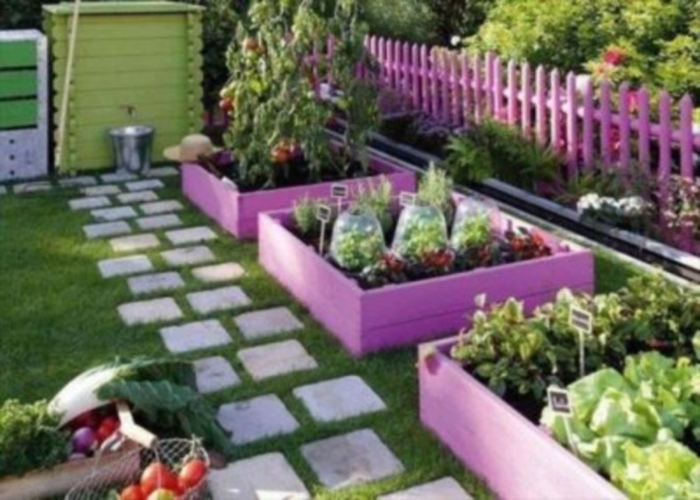 Easy to make diy raised garden beds ideas 18