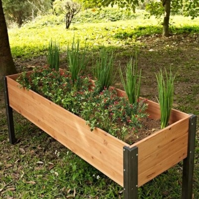Easy to make diy raised garden beds ideas 29