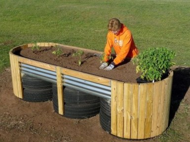 Easy to make diy raised garden beds ideas 33