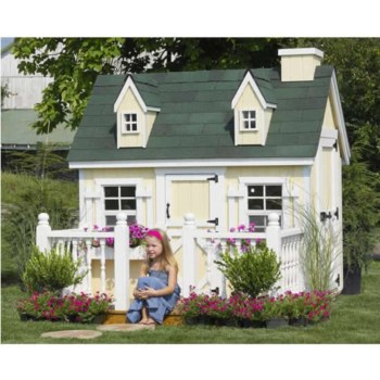 Fabulous backyard playhouse to delight your kids 06