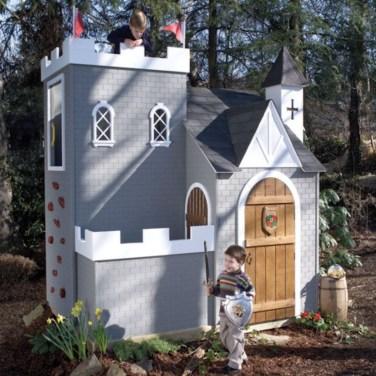 Fabulous backyard playhouse to delight your kids 10