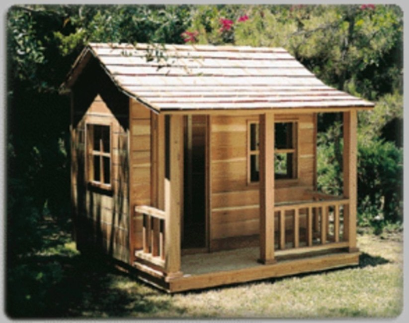 Fabulous backyard playhouse to delight your kids 16