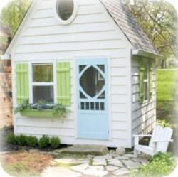 Fabulous backyard playhouse to delight your kids 37