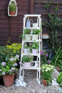 Gorgeous diy ladder-style herb garden 12