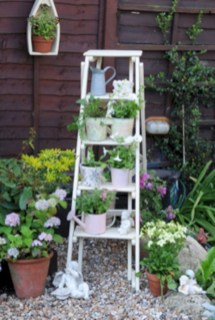 Gorgeous diy ladder-style herb garden 12
