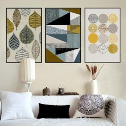 Simple diy wall art ideas for your home 02