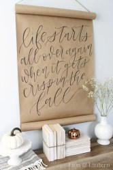 Simple diy wall art ideas for your home 03