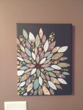 Simple diy wall art ideas for your home 07