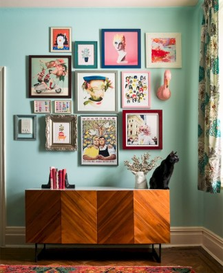 Simple diy wall art ideas for your home 15