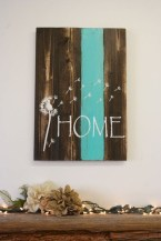 Simple diy wall art ideas for your home 17