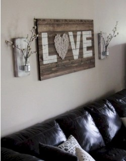 Simple diy wall art ideas for your home 20