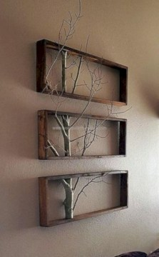 Simple diy wall art ideas for your home 45