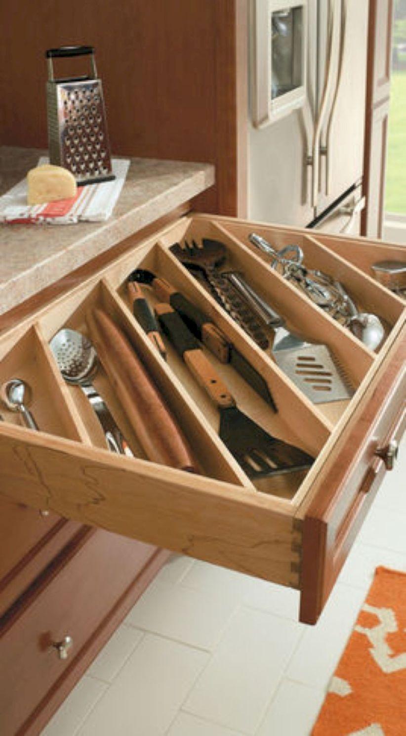 44 Smart Kitchen Cabinet Organization Ideas   GODIYGO.COM