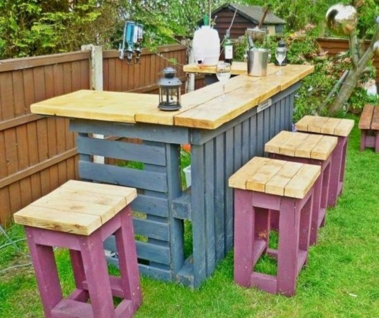 Best diy projects with pallet for your garden 06