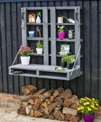 Best diy projects with pallet for your garden 28