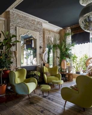 Boho rustic glam living room design ideas 08