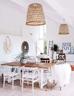 Boho rustic glam living room design ideas 13