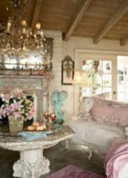Boho rustic glam living room design ideas 36