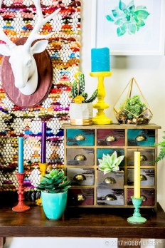Bright ideas for diy decor with bright color 23