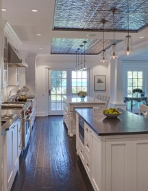 Gorgeous narrow kitchen with stunning details 28