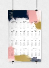 Modern wall calendars to get you organized for 2018 05