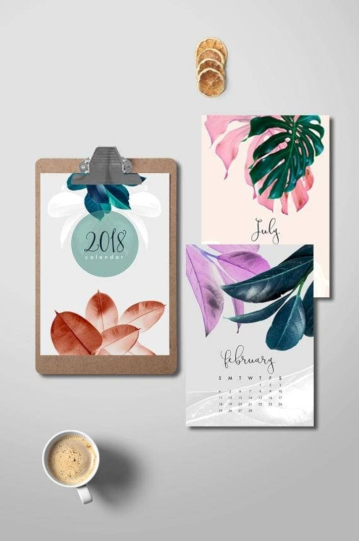 Modern wall calendars to get you organized for 2018 16