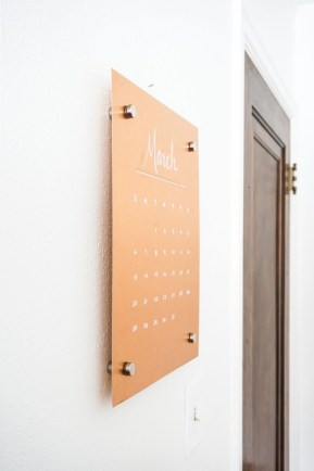 Modern wall calendars to get you organized for 2018 24